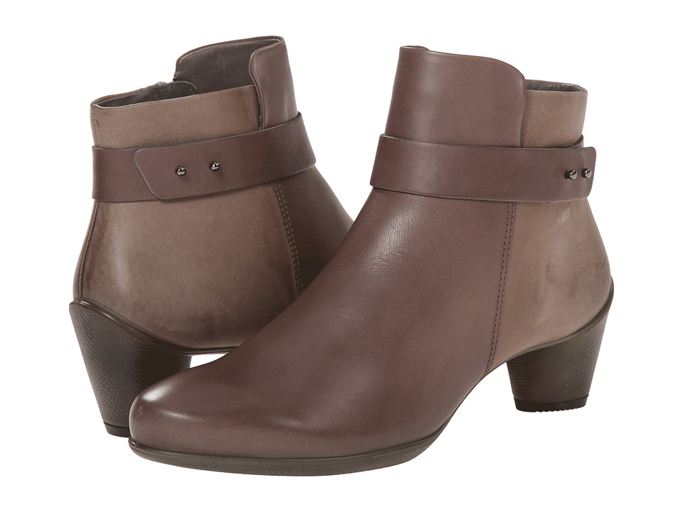 ECCO Sculptured 45 Ankle Boot (Dark Clay/Dark Clay) Women