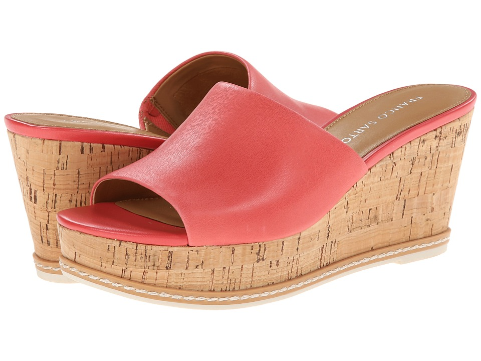 Franco Sarto - Caty (Poppy Red Leather) Women's Wedge Shoes