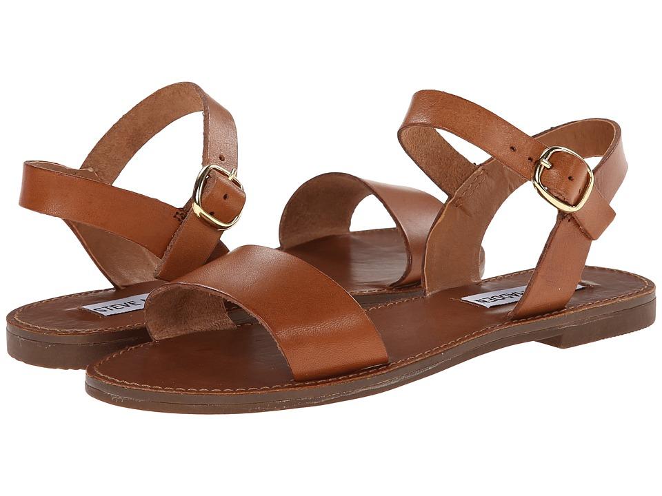 Steve Madden Donddi Sandal (Tan Leather) Sandals