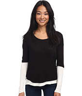 Three Dots - L/S Contrast Tunic/Top