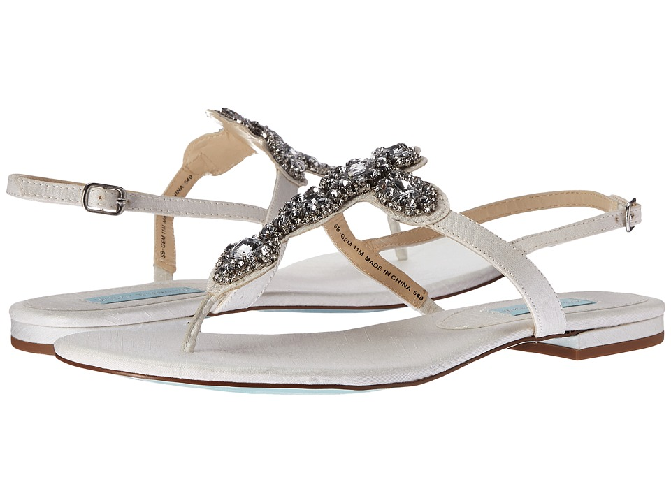 Blue by Betsey Johnson - Gem (Ivory Satin) Womens Sandals