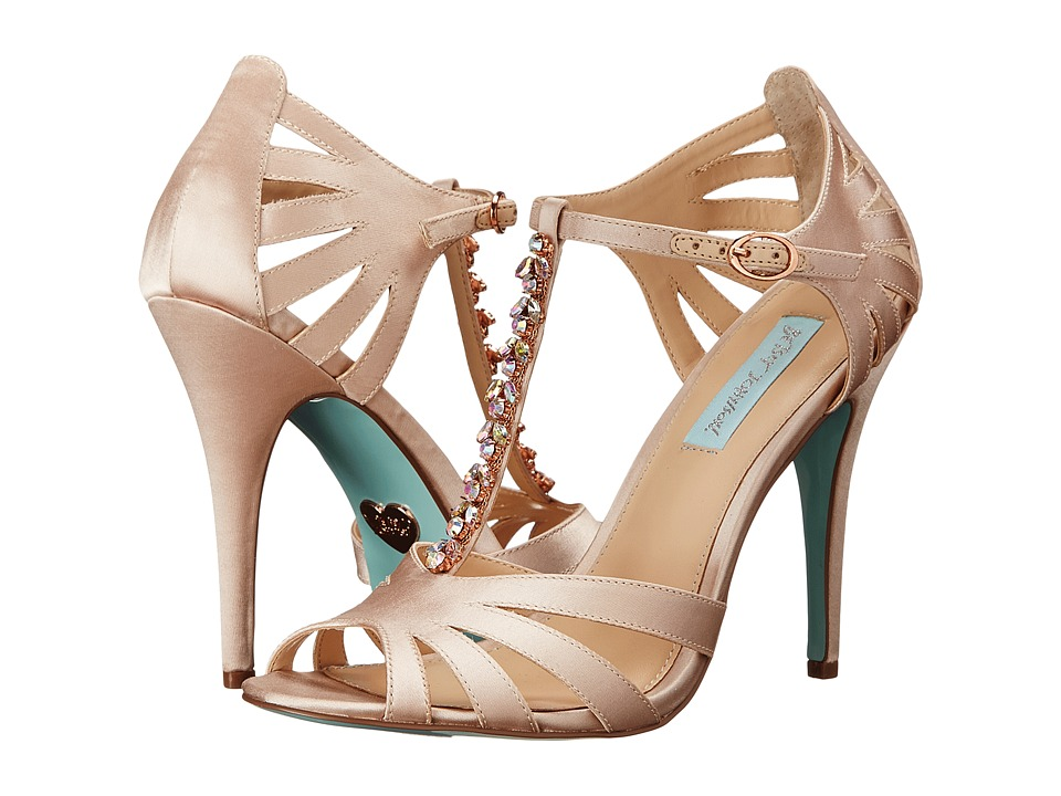 Blue by Betsey Johnson Song (Champagne Satin) High Heels