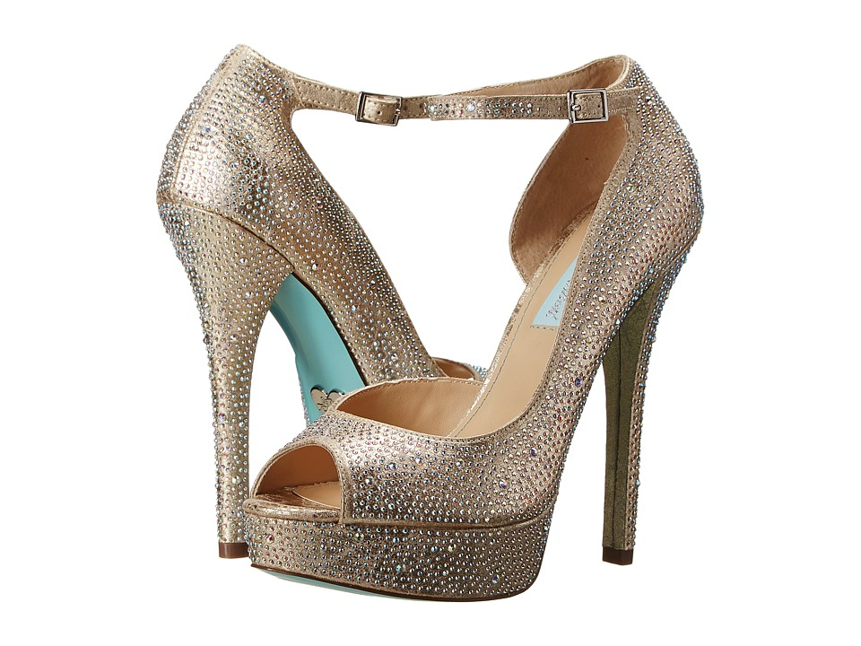 Blue by Betsey Johnson Ivy (Champagne Fabric) High Heels