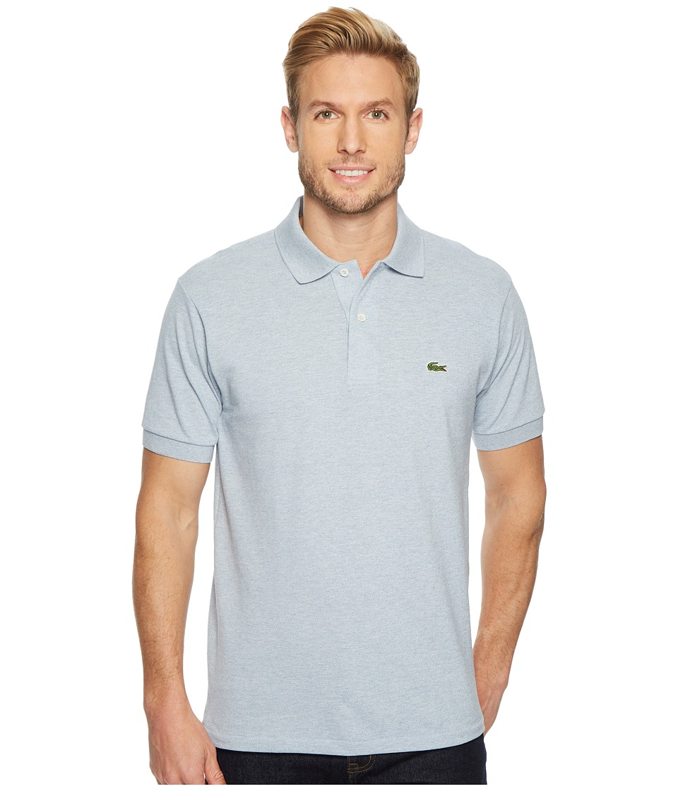 Lacoste - Mens Classic Chine Pique Polo Shirt (Lighthouse Blue Chine) Mens Clothing