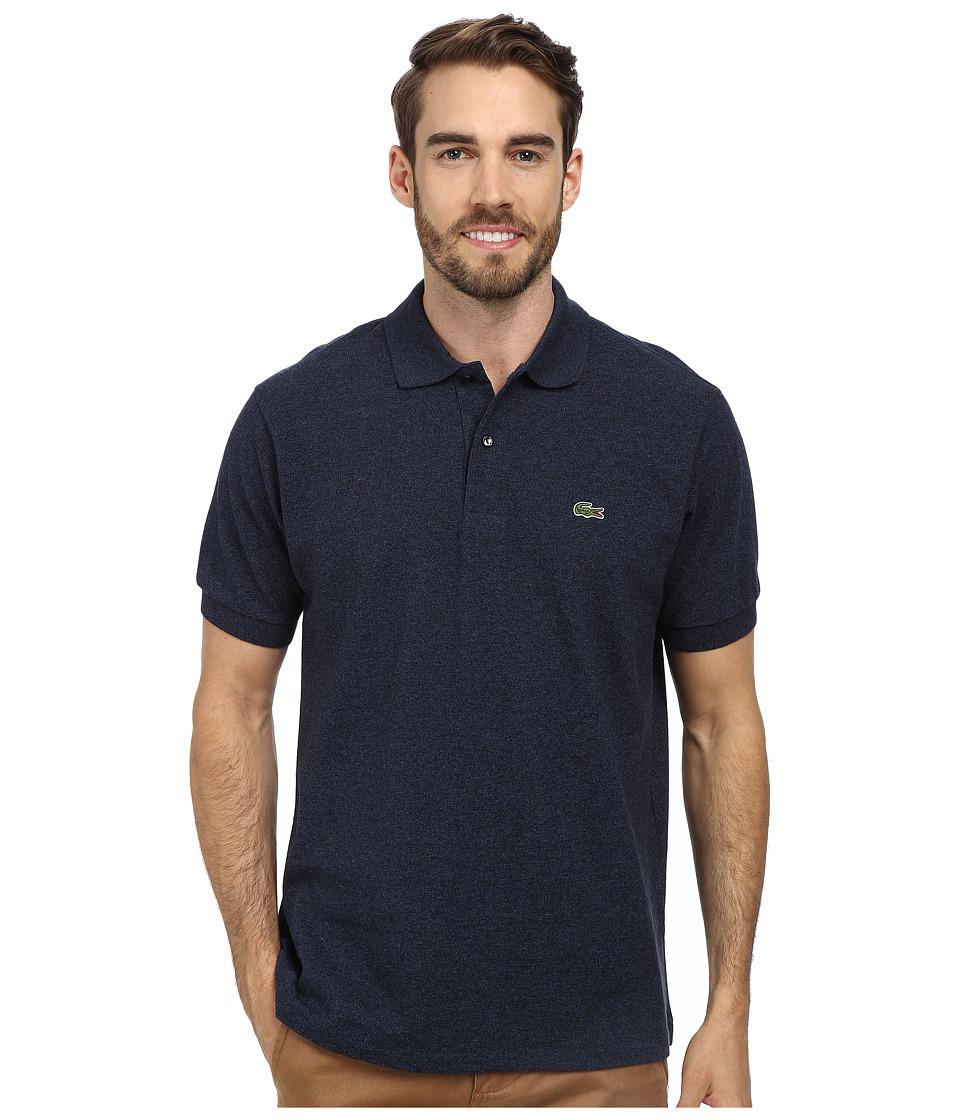 Lacoste - Short Sleeve Original Heathered Pique Polo (Dark Indigo Blue) Men