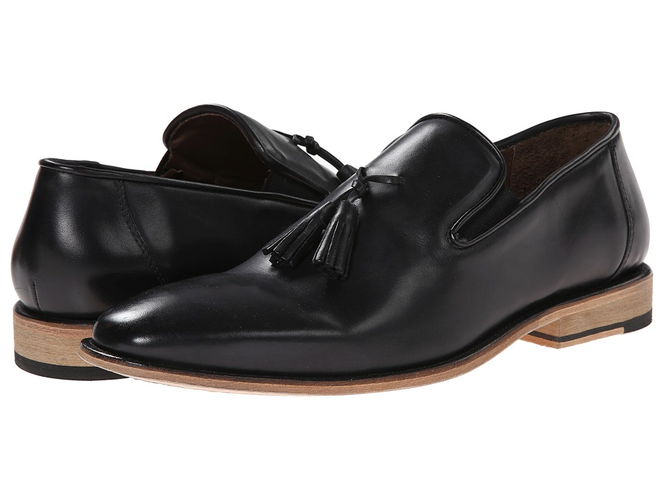 Messico Berriz Black Leather Mens Shoes