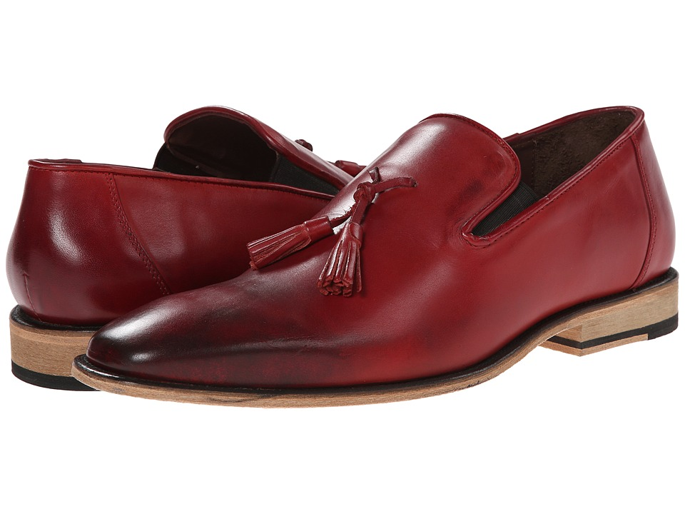 Messico Berriz Red Leather Mens Shoes