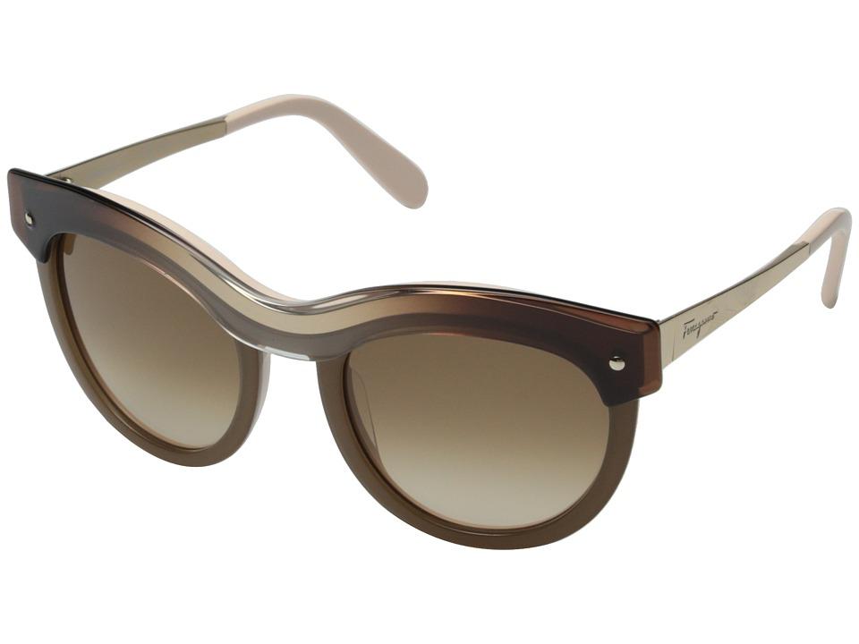 Salvatore Ferragamo SF774S Beige Gradient Fashion Sunglasses