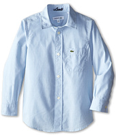 Lacoste Kids - L/S Woven Oxford Shirt w/ Chest Pocket (Little Kids/Big Kids)