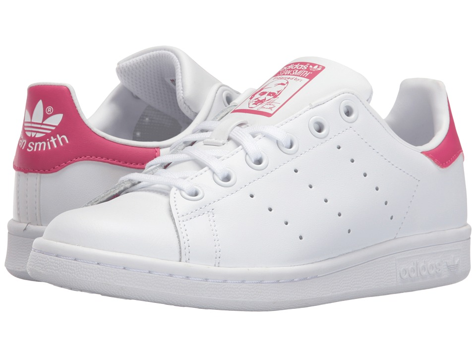 adidas Originals Kids - Stan Smith (Big Kid) (White/White/Bold Pink) Girls Shoes