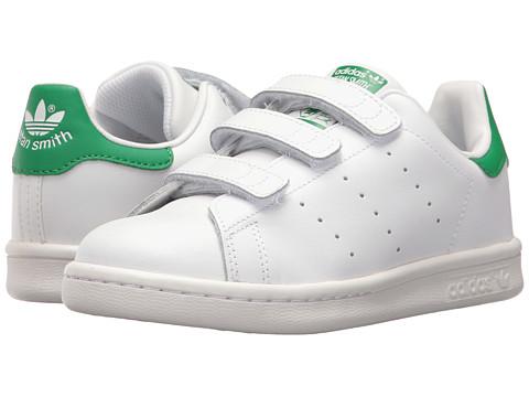adidas Originals Kids Stan Smith (Little Kid) - White/White/Green