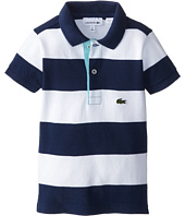 Lacoste Kids - Bold Stripe Polo w/ Contrast Placket (Toddler/Little Kids/Big Kids)