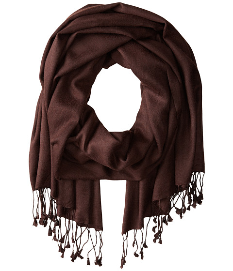 Betsey Johnson Cashmere/Silk Real Pashmina - Brown