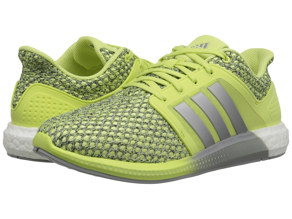 adidas Running Solar Boost Light Flash Yellow/Silver Metallic/White Womens Running Shoes