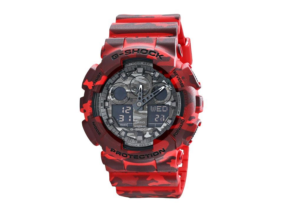 G Shock GA100CM 4A Red Camo Watches