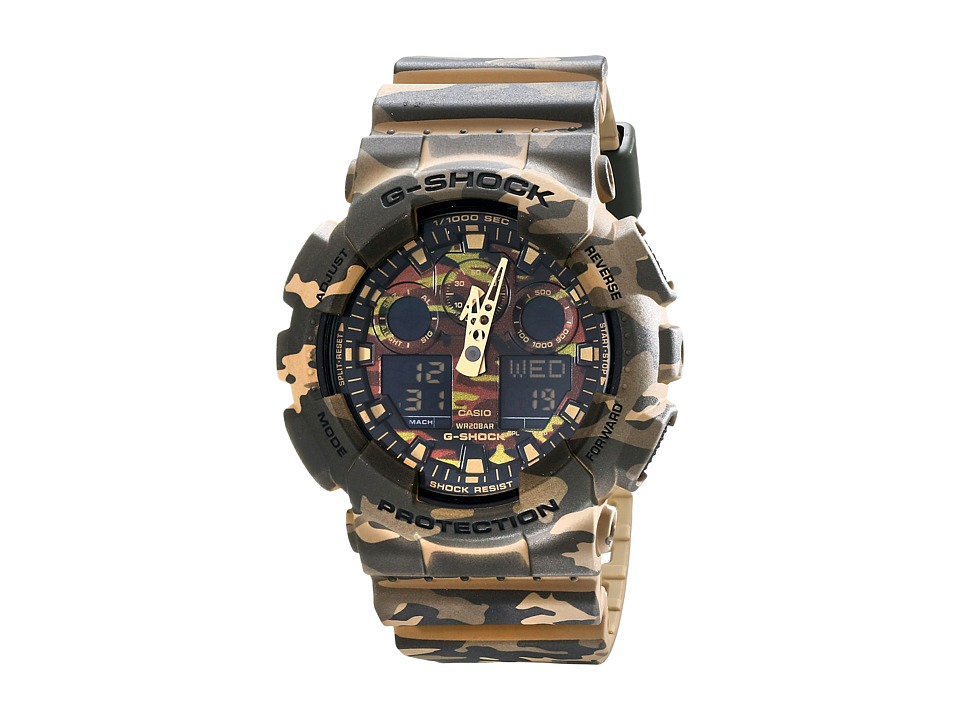 G Shock GA100CM 5A Green Camo Watches