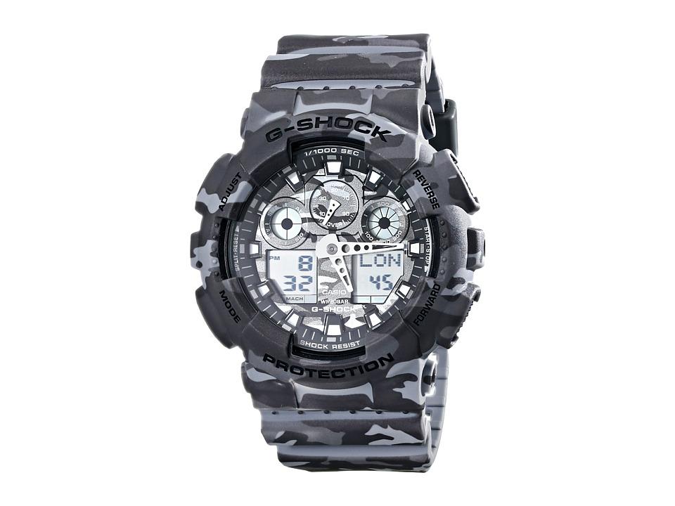 G Shock GA100CM 8A Gray Camo Watches