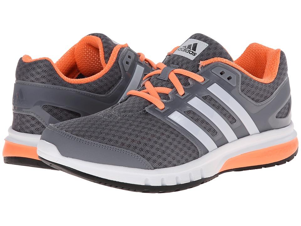 adidas Running Galaxy Elite Grey/White/Flash Orange Womens Running Shoes
