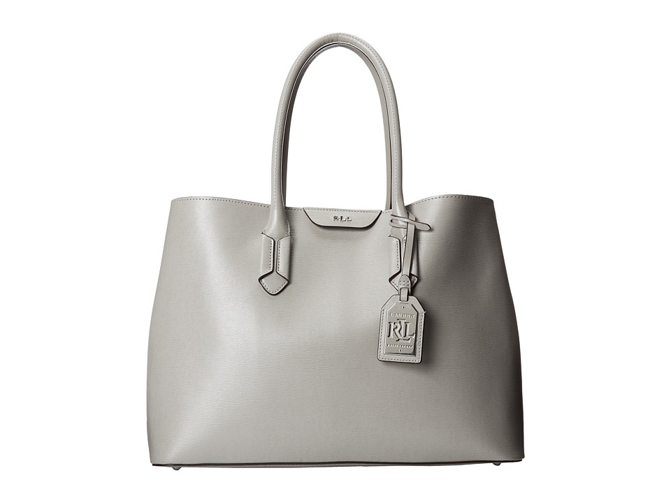 LAUREN Ralph Lauren - Tate City Tote (Dove Grey/Cocoa) Tote Handbags