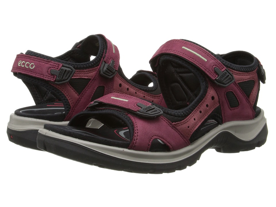 ECCO Sport Yucatan Sandal Morillo/Port/Black Womens Sandals