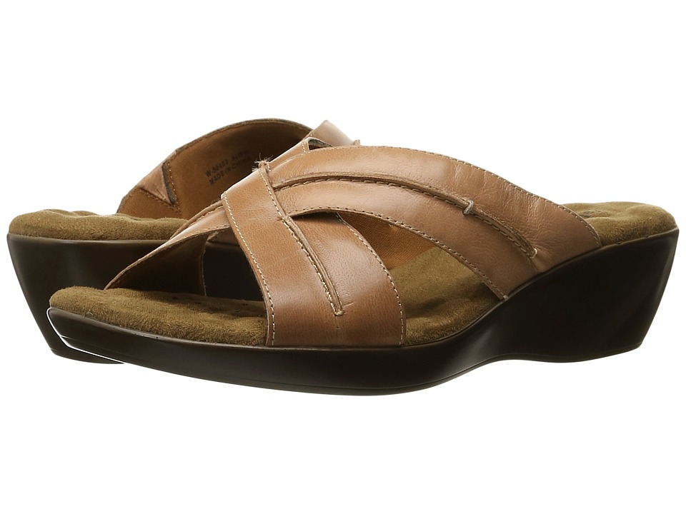 Walking Cradles Chase Tan Burnished Leather Womens Slide Shoes