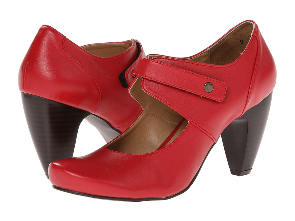 Gabriella Rocha - Deirdra (Red/Camel Faux Leather) Women's Slip on Shoes