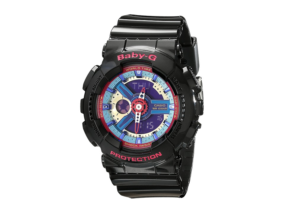 G Shock BA112 Black w/ Multicolor Dial Watches