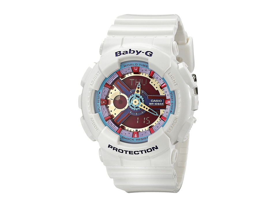 G Shock BA112 White w/ Multicolor Dial Watches