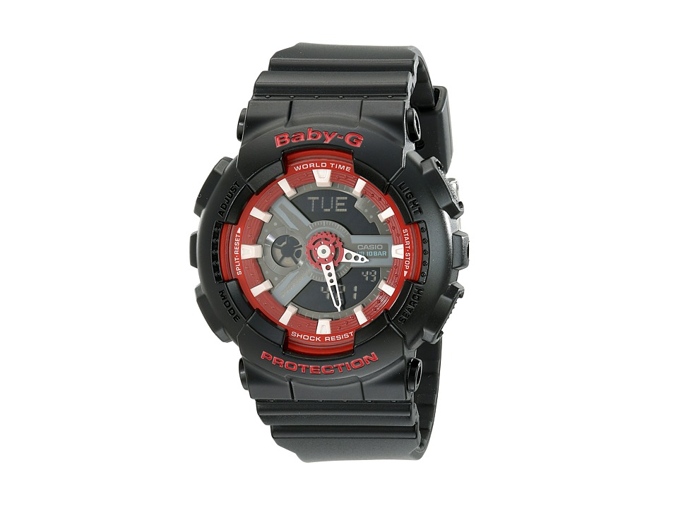 G Shock BA110SN Black/Red Watches