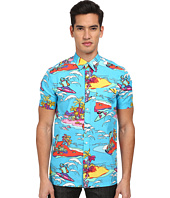 LOVE Moschino - Alien Surfer Print Short Sleeve Button-Up Shirt