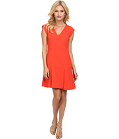 Rebecca Taylor - Sleeveless V-Neck Refined Suiting Dress