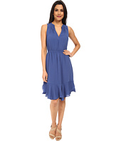 Rebecca Taylor - Sleeveless Crepe Gauze Ruffle Dress