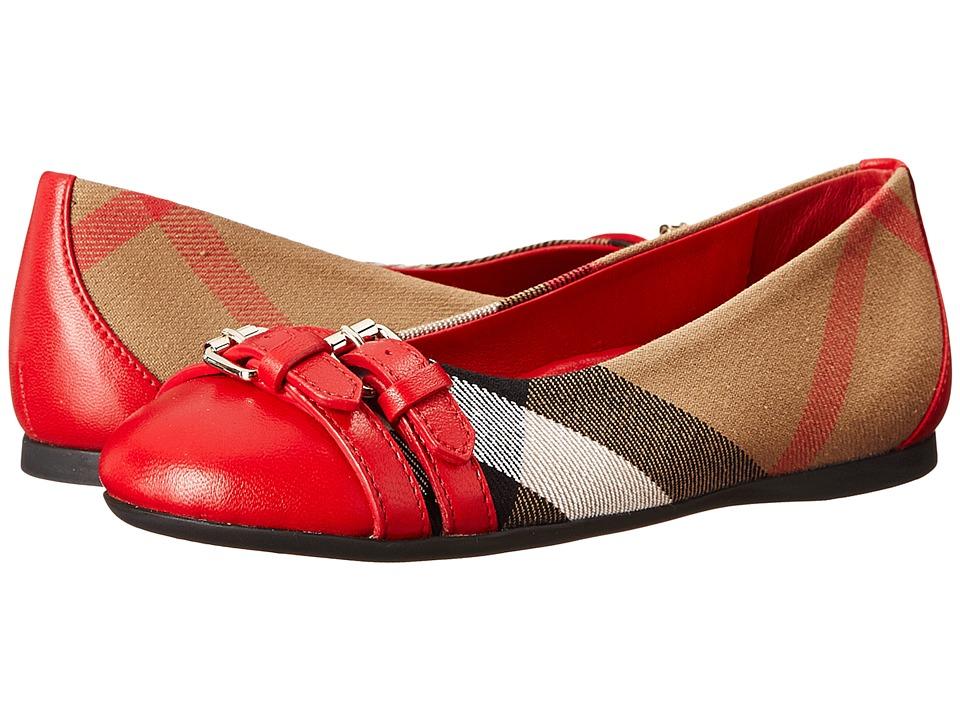 Burberry Kids K1 Mini Avonwick Toddler/Little Kid Military Red Girls Shoes