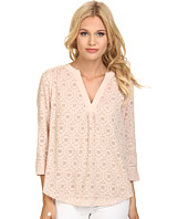 Rebecca Taylor - Long Sleeve Mosaic Fil Coupe Top
