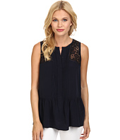Rebecca Taylor - Sleeveless Silk Lace Top