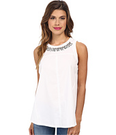 Rebecca Taylor - Sleeveless Pop Crocus Embroidery Top