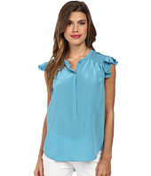 Rebecca Taylor - Sleeveless Silk Ruffle Top