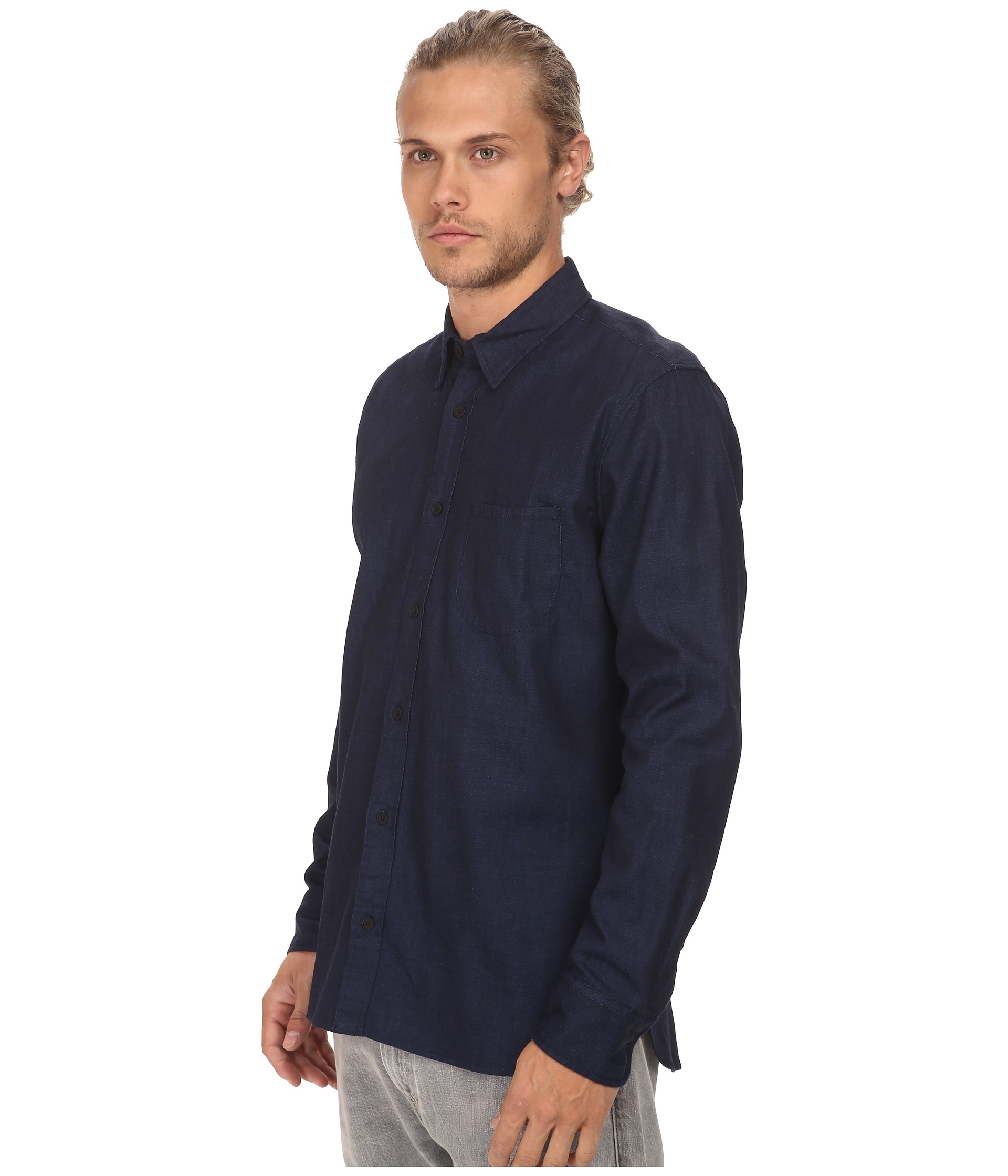 levi s made crafted one pocket shirt in denim rinse. Black Bedroom Furniture Sets. Home Design Ideas