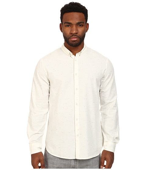 Levi 39 s made crafted standard shirt in white neps for Levis made and crafted shirt