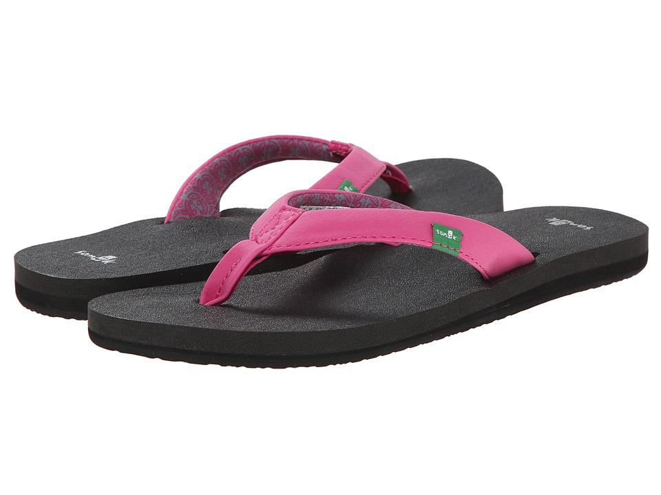 Sanuk Yoga Zen Fuchsia Womens Sandals