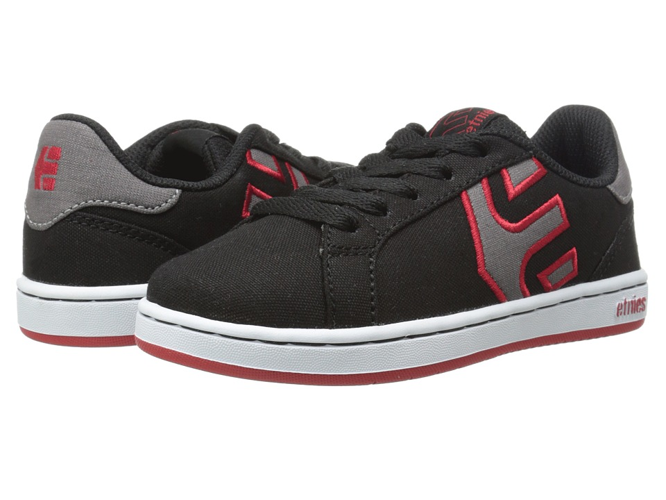 etnies Kids Fader LS Toddler/Little Kid/Big Kid Black/White/Red Boys Shoes