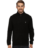 U.S. POLO ASSN. - Full Zip Mohair Sweater
