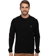 U.S. POLO ASSN. - L/S Mohair Cable Fro