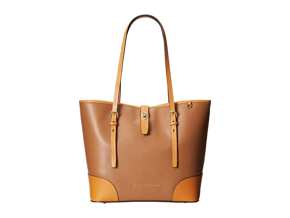 Dooney & Bourke - Claremont Dover Tote (Tan w/ Butterscotch Trim) Tote Handbags