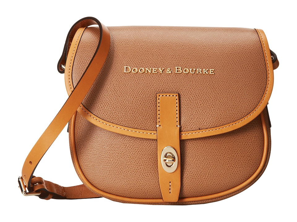 Dooney & Bourke - Claremont Field Bag (Tan w/ Butterscotch Trim) Cross Body Handbags