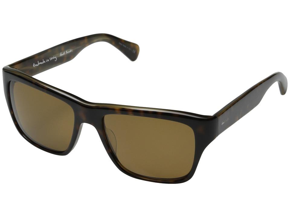 Paul Smith Carston Oak/Olive Tortoise/Brown Polarized Fashion Sunglasses