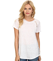 Rebecca Taylor - Short Sleeve Linen Lace Tee