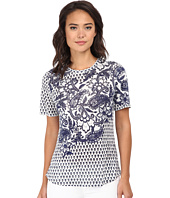 Rebecca Taylor - Short Sleeve Engineered Paisley Print Tee