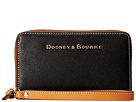Dooney & Bourke Claremont Zip Around Credit Card Phone Wristlet