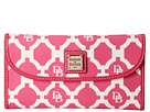 Dooney & Bourke Sanibel Canvas Continental Clutch